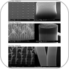 SEM images of growth from patterned catalysts for various catalyst thickness and % C2H2 at 15 mbar total pressure and 700C for 0.5 nm Al/Fe/5 nm Al/Si(100).