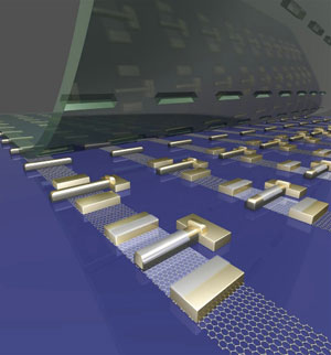 Self-aligned graphene transistor