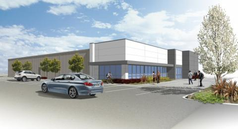 A schematic of the new Advanced Manufacturing building at Lawrence Livermore.